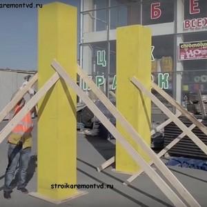 Монтаж опалубки для колонн
